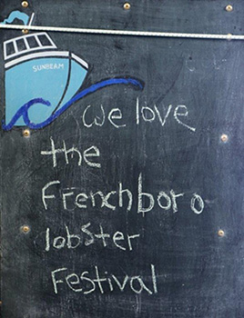 Lobster Fest Chalkboard Sign